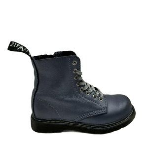 Dr Martens Kids1460 Pascal Lace Up Grey Black Boot